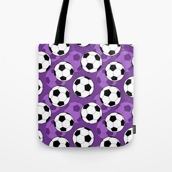 Football Pattern on Purple Background by doodlesdesigns