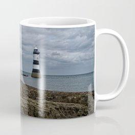 Storm Clouds Over The Trwyn Du Lighthouse Coffee Mug