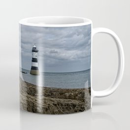 Storm Clouds Over The Trwyn Du Lighthouse Coffee Mug