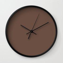 Cocoa Brown Wall Clock