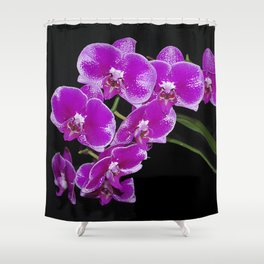 Graceful spray of deep pink orchids Shower Curtain