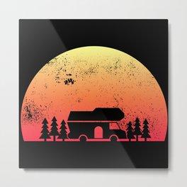 Retro Sunset RV - Motorhome Owner Gift Metal Print