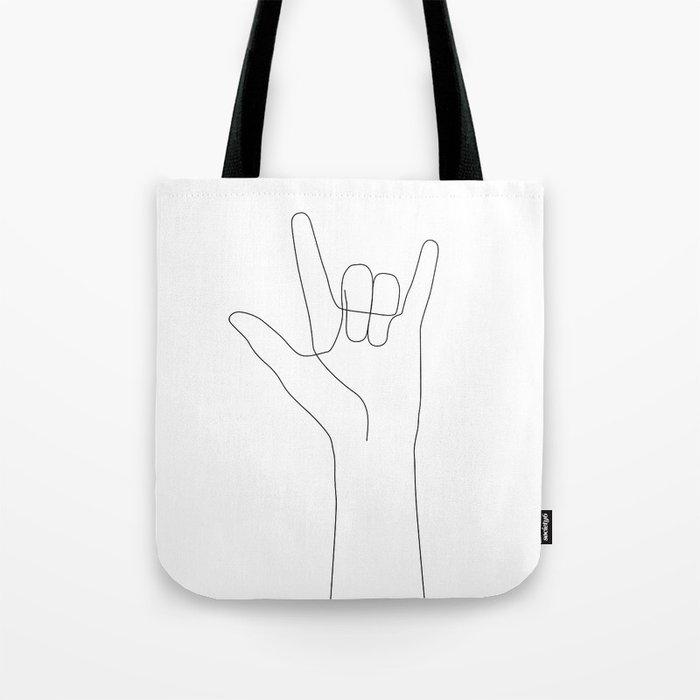 Love Hand Gesture Tote Bag
