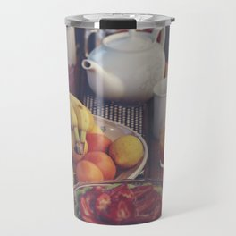 Food photography, fruit still life, kitchen wall art, bed & breakfast, food porn, fine art Travel Mug
