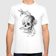 Skull one B White MEDIUM Mens Fitted Tee