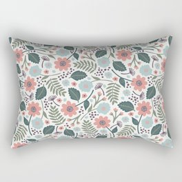 Blush Blooms Rectangular Pillow