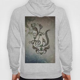 Music, key note with floral elements Hoody
