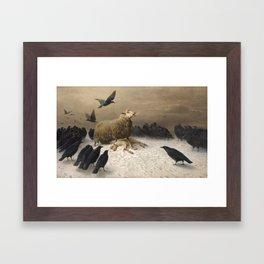 Anguish - August Friedrich Albrecht Schenck - Ravens and Sheep Framed Art Print