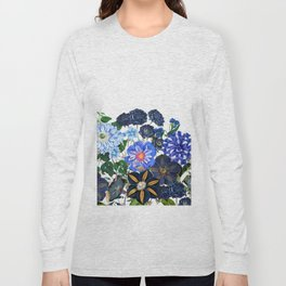 Vintage & Shabby Chic - Blue Flower Summer Meadow Long Sleeve T-shirt