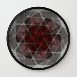 Contained in red Wall Clock