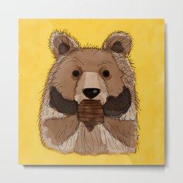 Pastry Bear Metal Print