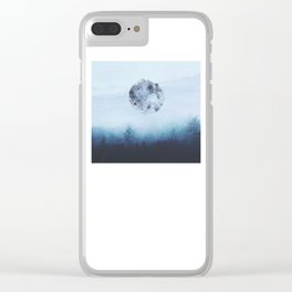 Watercolor Moon Clear iPhone Case
