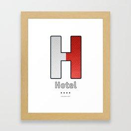 Hotel - Navy Code Framed Art Print