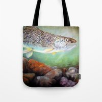 trout Tote Bags featuring Rainbow Trout by RuthIsrael