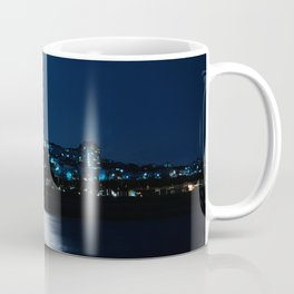 Wolf Moon Rising Over Blue Waters Coffee Mug