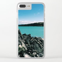 above the clouds Clear iPhone Case