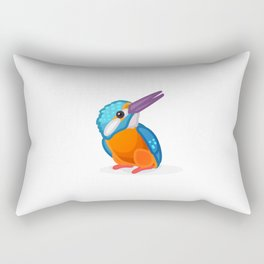 Kingfisher bird. Vector graphic character Rectangular Pillow