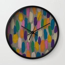 Rainy Day Brushstrokes Wall Clock