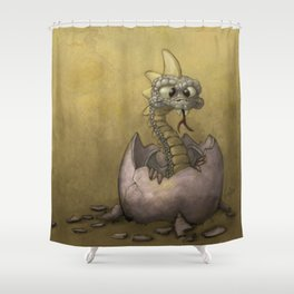 The Baby Dragon Shower Curtain