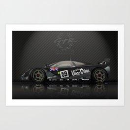 1995 Le Mans Winning McLaren F1 GTR #01R Art Print