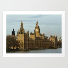 London And The Houses Of Parliament Art Print