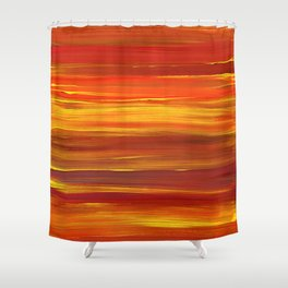 Sunset stratum Shower Curtain