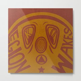 Legion Wakes Red and Brown Metal Print