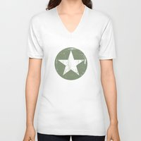 army V-neck T-shirts featuring ARMY by mauromod
