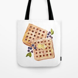 Blueberry Breakfast Waffles Tote Bag