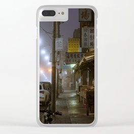 Winter Fog #3 Clear iPhone Case