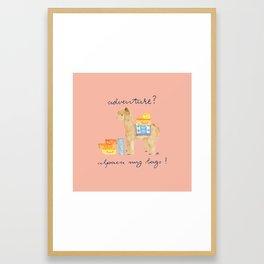 Alpaca My Bags Framed Art Print