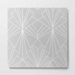 Art Deco on Grey - Large Scale Metal Print