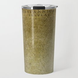 Ancient Latin Report re Roman British Isles Travel Mug