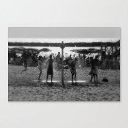 Beach shower Canvas Print