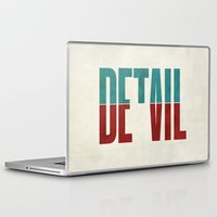 typography Laptop & iPad Skins featuring Devil in the detail. by David