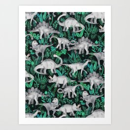 Dinosaur Jungle Art Print
