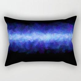 Blue Light Beam Rectangular Pillow