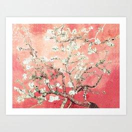 Van Gogh Almond Blossoms : Peach Art Print