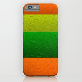 Orange Lime and Green Passion iPhone Case