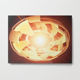 """Atom Or Adam"" Metal Print"