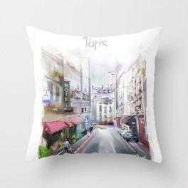 paris2 Throw Pillow