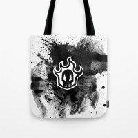 bleach Tote Bags featuring Bleach BW 3 by Bradley Bailey