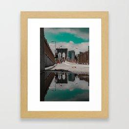 Brooklyn in a Puddle Framed Art Print