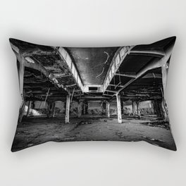 Urbex photography in a former abandoned cotton mill Rectangular Pillow