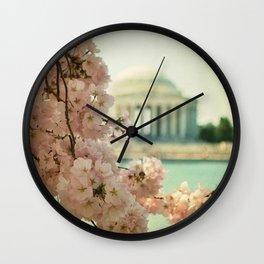 DC Cherry Blossoms Wall Clock