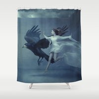 romantic Shower Curtains featuring Romantic by Flo Tucci