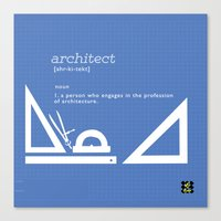 architect Canvas Prints featuring architect by Be Raza