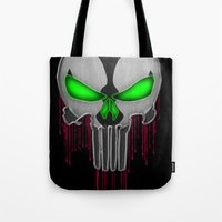 spawn Tote Bags featuring Punisher Spawn Mash-Up by Joshua Epling