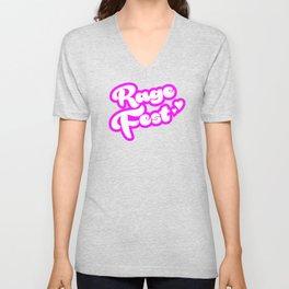 Rage Fest in Pink Unisex V-Neck