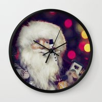 santa Wall Clocks featuring Santa by ThePhotoGuyDarren